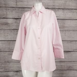 Foxcroft S Non Iron Button Down Shirt Blouse top